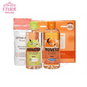 ETUDE HOUSE Monster Cleansing Water Duo Special Set 300ml+300ml+60ea [Limited Edition]